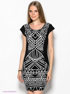 Платье Vero moda. Цвет: черный, белый