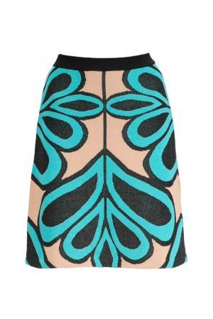 Трикотажная юбка 156968 Andrea Turchi. Цвет: разноцветный