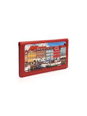Конверт для путешествий Копенгаген Eshemoda. Цвет: темно-красный