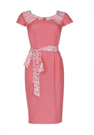 Платье Mayamoda. Цвет: коралловый
