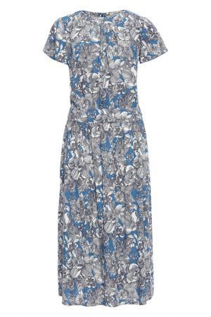 Длинное платье с принтом Finn Flare. Цвет: 101 cosmic blue