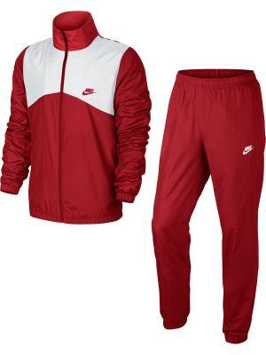 Спортивный костюм M NSW TRK SUIT WVN HALFTIME Nike. Цвет: красный, белый