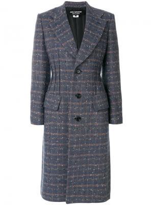 Твидовое пальто Junya Watanabe Comme Des Garçons. Цвет: многоцветный