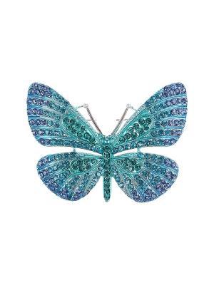 Брошь Olere. Цвет: серебристый, бирюзовый, голубой