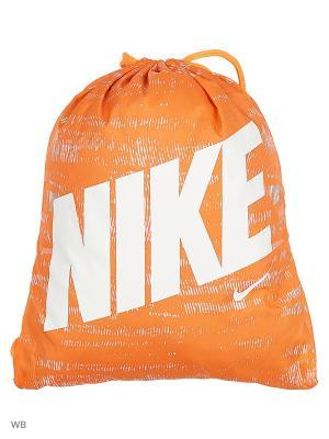 Рюкзак NIKE YA GRAPHIC GYMSACK. Цвет: оранжевый, белый