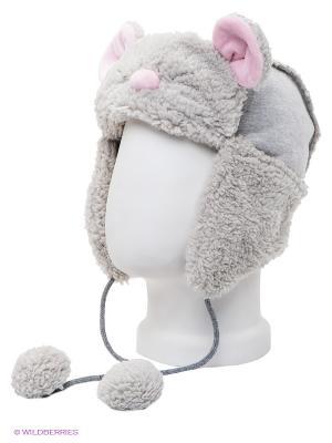 Шапка True Fur. Цвет: серый, розовый