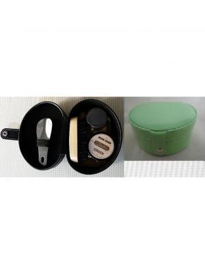 Дорожный набор для ухода за обувью в футляре из полиуретана,  бирюзовый Magic Home. Цвет: бирюзовый