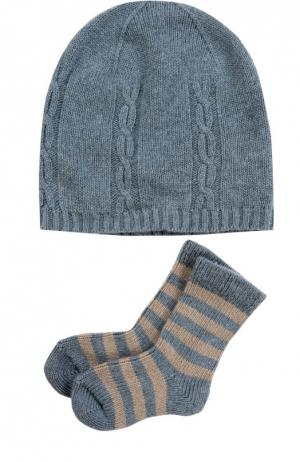 Комплект из шапки и носков Falke. Цвет: разноцветный