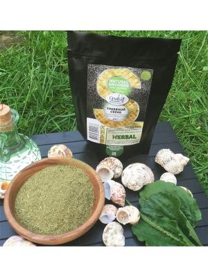 Травяной скраб Подорожник и черемуха с маслом Грецкого Ореха, 200 гр Grosheff. Цвет: зеленый