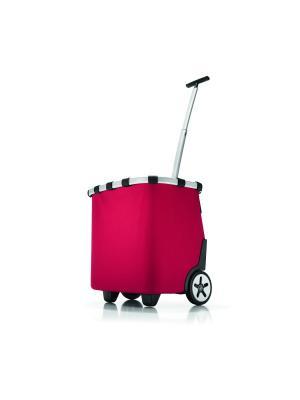 Сумка-тележка Carrycruiser red Reisenthel. Цвет: красный