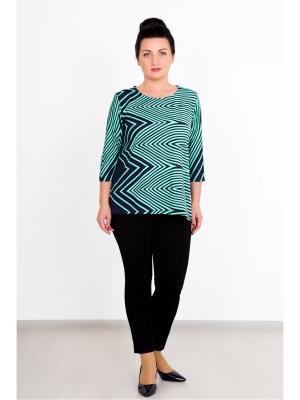 Блузка Lika Dress. Цвет: темно-синий, зеленый