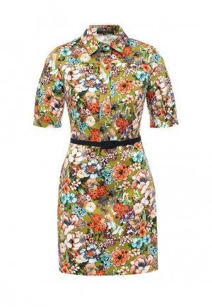 Платье Piena. Цвет: разноцветный