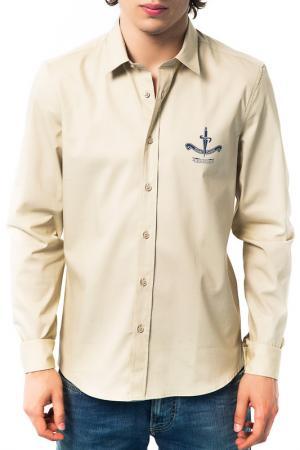 Рубашка Cesare paciotti beachwear. Цвет: бежевый