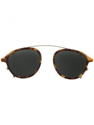 Солнцезащитные очки на переносицу Eyevan7285. Цвет: коричневый