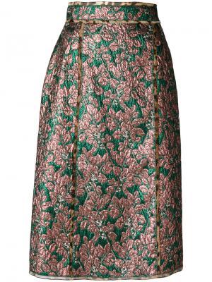 Юбка с металлическим отблеском Dolce & Gabbana. Цвет: многоцветный