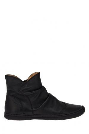 Кожаные ботинки со складками Pom D'Api. Цвет: черный