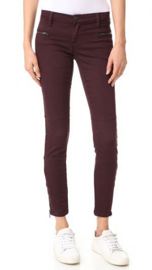Практичные атласные брюки Blank Denim. Цвет: wine oclock