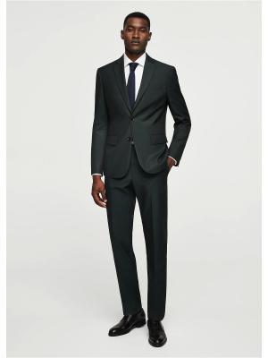 Пиджак - BRASILIA MANGO MAN. Цвет: серый, зеленый