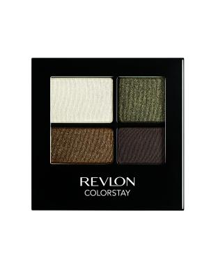 Тени для век четырехцветные Colorstay Eye16 Hour Eye Shadow Quad, Adventurous 515 Revlon. Цвет: черный