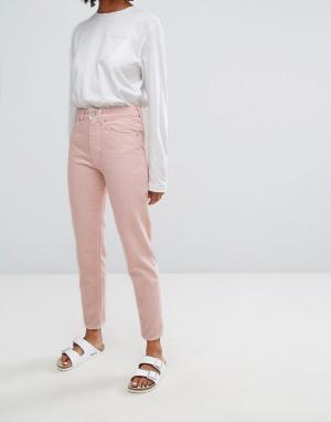 Waven Джинсы пастельного цвета в винтажном стиле Elsa. Цвет: розовый