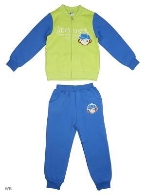 Толстовка на молнии и брюки Sago Kids i Ant Domain. Цвет: светло-зеленый, синий