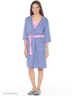 Комплект Vienetta Secret. Цвет: голубой, розовый