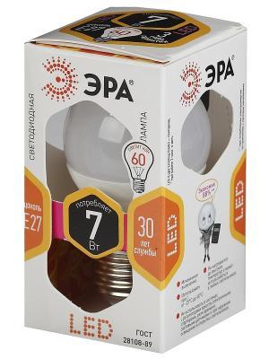 Лампа светодиодная ЭРА LED smdP45-7w-827-E27. Цвет: белый