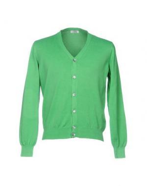 Кардиган VALDOGLIO. Цвет: зеленый