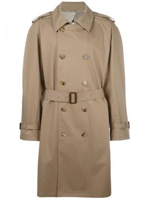 Классическое пальто-тренч Maison Margiela. Цвет: коричневый