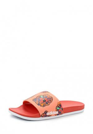 Сланцы adidas. Цвет: оранжевый