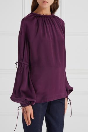 Шелковая блузка Aquilano.Rimondi. Цвет: красный