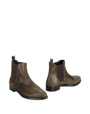 Полусапоги и высокие ботинки GEORGE J. LOVE. Цвет: темно-зеленый