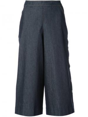Укороченные шорты с широкими брючинами Vanessa Seward. Цвет: синий