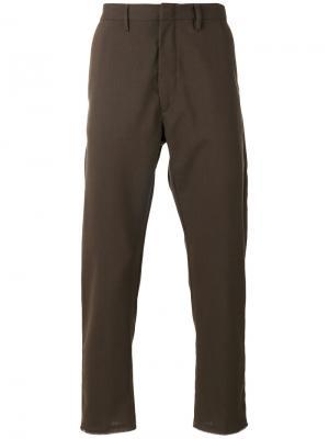 Классические брюки чинос Pence. Цвет: зелёный