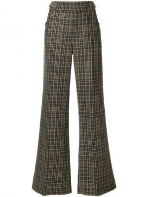 Расклешенные брюки в клетку Marc Jacobs. Цвет: коричневый