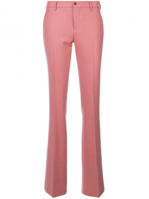 Классические расклешенные брюки Pt01. Цвет: розовый и фиолетовый