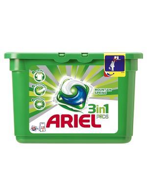 Гель в растворимых капсулах Liquid Capsules Горный родник 15X28.8г Ariel. Цвет: зеленый
