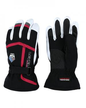 Лыжные перчатки level. Цвет: фуксия