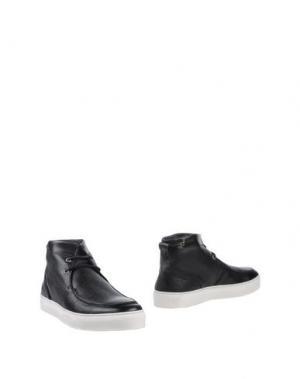 Полусапоги и высокие ботинки SIMONE MARIOTTI. Цвет: черный