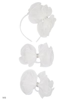 Ободок, банты-резинки Baby Steen. Цвет: белый