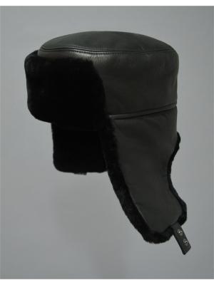 Ушанка Bos Bison. Цвет: черный