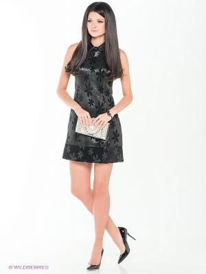 Платье TOPSANDTOPS. Цвет: черный, антрацитовый
