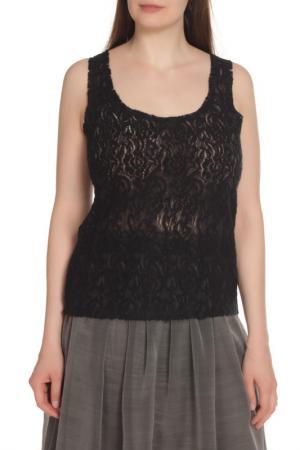 Блузка-топ ERMANNO BY SCERVINO. Цвет: черный