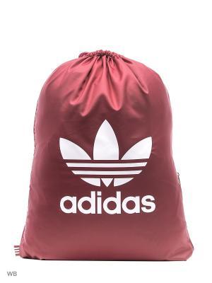Сумка GYMSACK TREFOIL  CBURGU Adidas. Цвет: бордовый