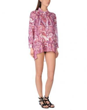 Пляжное платье SOLOBLU. Цвет: пурпурный