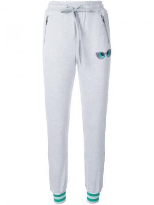Спортивные брюки с карманами на молнии Thomas Wylde. Цвет: серый