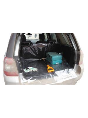 Защитная накидка в багажник Свежесть багажнике большая. Оранжевый Слоник. Цвет: прозрачный