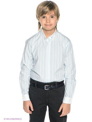 Рубашка PlayToday. Цвет: голубой, белый