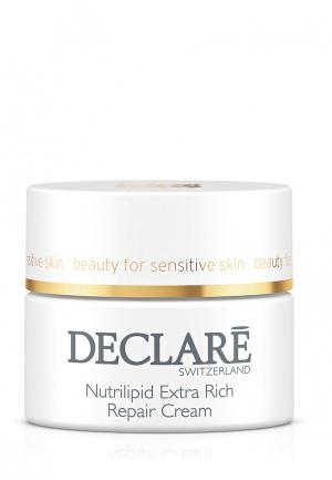 Питательный восстанавливающий крем для сухой кожи Declare. Цвет: белый