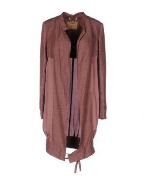 Легкое пальто DANIELE ALESSANDRINI. Цвет: светло-коричневый